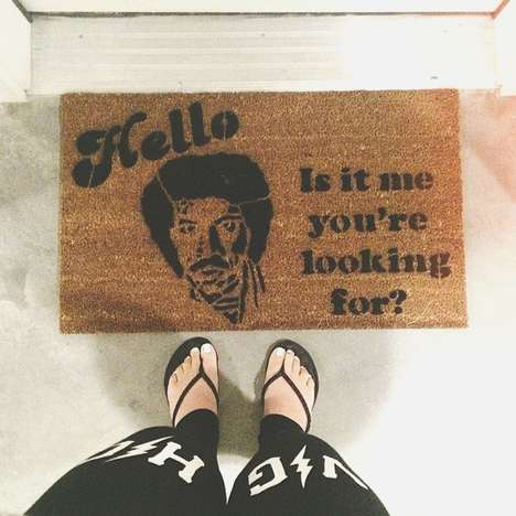 Nostalgic Lyrical Doormats - The Lionel Richie Doormat Reminds You Who You're Looking For