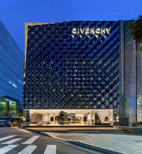 Rippling Retail Facades - The Seoul Givenchy Flagship Store is a Beacon of Modernity