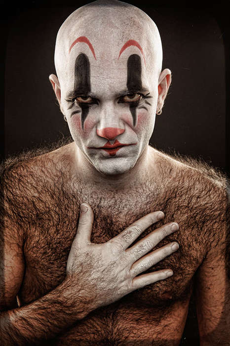 Grotesque Clown Portraits - 'Clownville' Features a Cast of Disturbing Oddballs