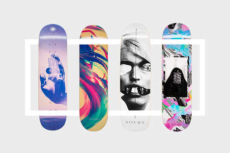 Bold Artistic Skateboards - SOVRN Creates Abstract LA-Inspired Boards For the Palo Alto Type