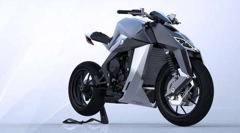 Futuristic Feline Motorbikes - The Feline One is a Peculiar and Powerful Motorbike