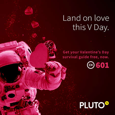 Romantic Streaming Services - Pluto TV's Valentine's Day Survival Guide is Perfect for V-Day at Home
