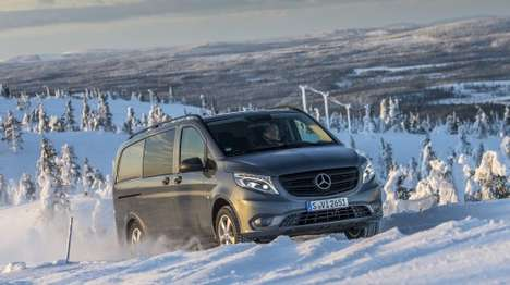 Ice Traction SUVs - The Mercedes Vito 4x4 Offers Great Traction In Icy Conditions