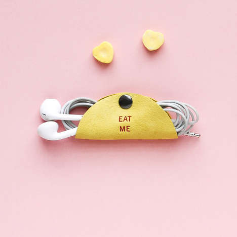 Romantic Cable Organizers - The Cord Taco Takes on Sweet Sayings and Pastel Colors for Valentine's