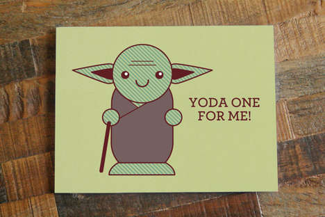 Romantic Jedi Master Valentines - This Yoda One for Me Card is Inspired by Star Wars