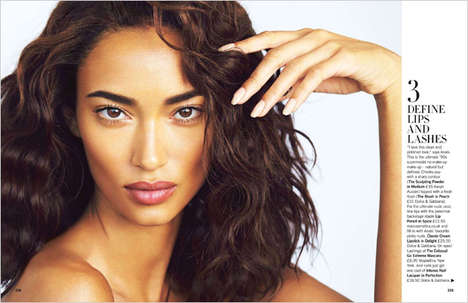 Bronzed Beauty Editorials - Glamour UK's 'Look, No Make-Up' Story Boasts Bronzed Beauty Looks
