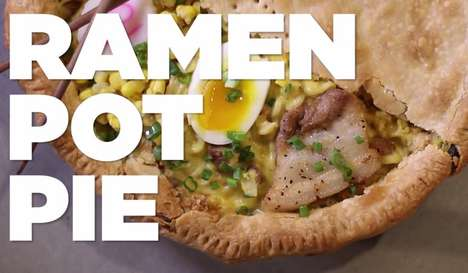 Hearty Hybrid Recipes - This Ramen Pot Pie is the Ultimate Comfort Food