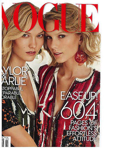 Celebrity BFF Covers - Taylor Swift and Karlie Kloss Cover the Latest Issue of Vogue