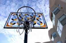 Stained Glass Backboard Art - Victor Solompn Puts an Artistic Spin on These Basketball Backboards