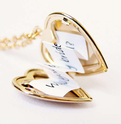 Heart Locket Messages - Sending a Loving Note is Made More Memorable with This Keepsake