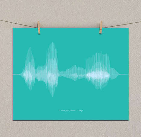 Personalized Art Messages - People Can Turn Voiced Sentiments into Gorgeous Sound Wave Visuals