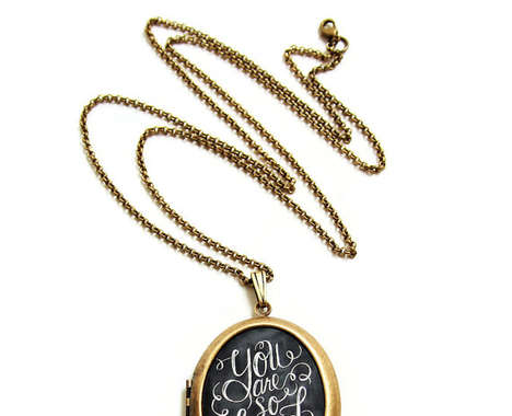 Chalkboard Art Lockets