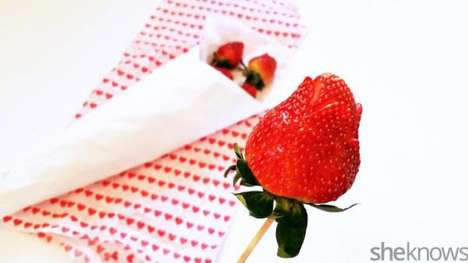 Romantic Strawberry Bouquets - This Edible Bouquet is a Sweet Alternative to a Flower Arrangement
