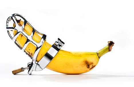 Suggestive Food Photography - These Food Items are Decorated to Spoof the Fifty Shades of Grey Film