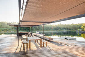 This Boathouse by Weiss Architecture is in the Canadian Wilderness