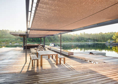 Contemporary Cottage Escapes - This Boathouse by Weiss Architecture is in the Canadian Wilderness