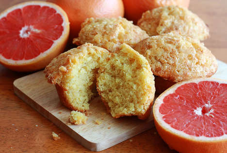 Grapefruit Buttermilk Baked Goods - This Recipe for Pink Grapefruit Buttermilk Muffins is in Season