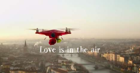 Flower Delivery Drones - This Flower Marketing Stunt Involves a Romantic UAV