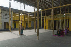 The Pani Community Center Features a Bamboo Bike Workshop