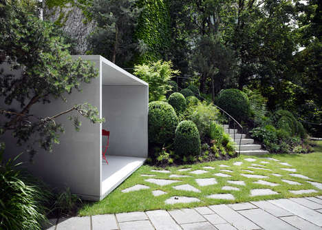 Concrete Smoking Sanctuaries - The Smoking Room by Gianni Botsford is a Place to Enjoy the Garden