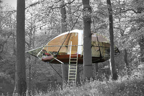 Eco-Friendly Portable Treehouses - This Suspension Treehouse Tent is for the Young at Heart