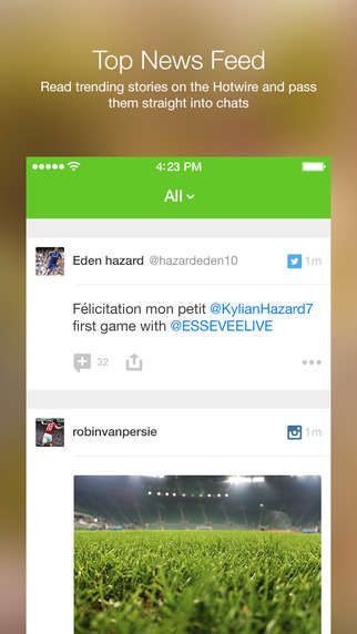 Soccer Fan Chat Apps - The INPLAY Football Messenger App is Like WhatsApp For Soccer Fans