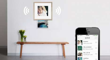 Smart Picture Framing Services - Wundershine Image Framing Lets You Display Digital Snaps at Home