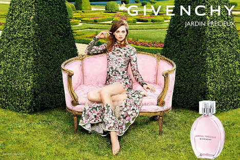 Botanical Fragrance Marketing - The Givenchy Jardin Precieux Campaign Features Daga Ziober