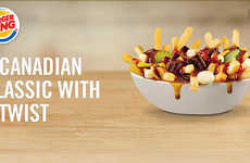 Fast Food Mashups - Burger King Introduces Poutine a la Burger for Its Canadian Market