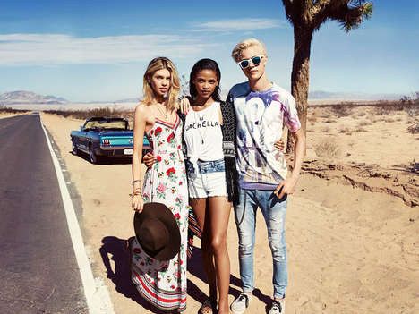 Fast Festival Fashion - The H&M Loves Coachella Collection is Concert-Themed