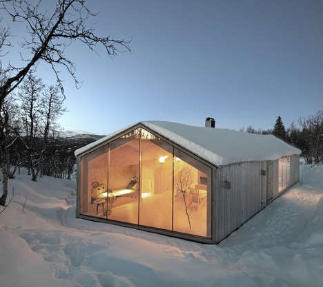Remote All-Year Cabins - The V-Lodge by Reiulf Ramstad Architecture is Suitable for a Big Family