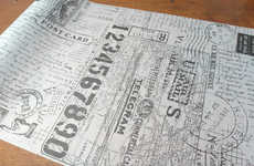 Cartographic Tissue Paper - This Postale Tissue Wrap Design is Artisanal and Vintage-Inspired