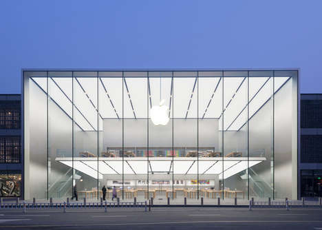 Luminiscent Retail Havens - The Hangzhou Apple Store in China is an Idyllic Shopping Palace