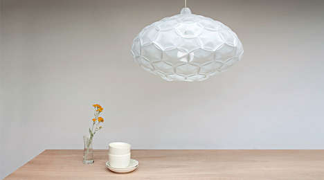 Eco Origami Lighting - The Airy Lamp by Studio 24° is Paper-Made and Inspired by Clouds