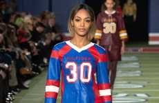 Feminine Football Jersey Fashion - The Latest Tommy Hilfiger Collection is Varsity-Themed