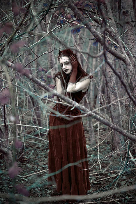 Haunting Woodland Photography - Maiden of Ravens by Sarah Bowman Captures an Otherworldly Creature