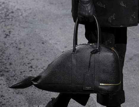 Fictional Mammal Purses - The Thom Browne Whale Bag Would Give Free Willy a Run for His Money