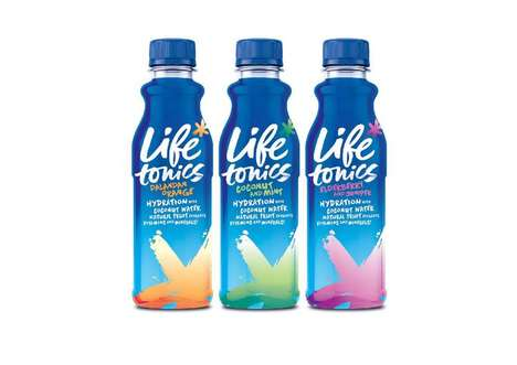 Healthy Hydrating Drinks - Life Tonics is a Healthy Beverage Line with a Base of Coconut Water