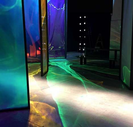 Aurora Borealis Runways - The Northern Lights at Thakoon's AW15 Collection Illuminated the Runway