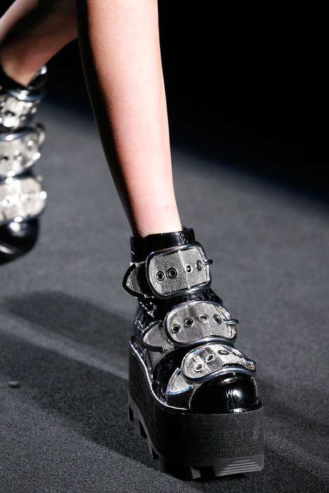 Luxurious Grunge Footwear - The Alexander Wang Buckle Boot Pays Homage to the Punk Rock Era