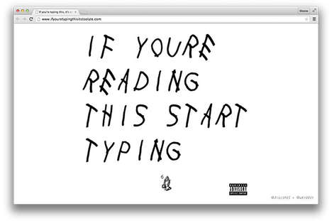 Interactive Rapper Fonts - This Website Features the Font on the Cover of Drake's Surprise Mixtape
