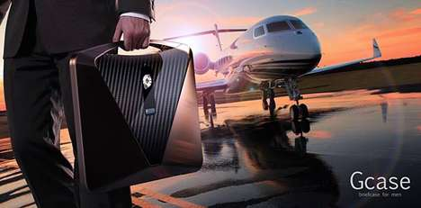 Hi-Tech Briefcases - The Gcase Fashionably Keeps Track of Your Schedule and Records Meetings