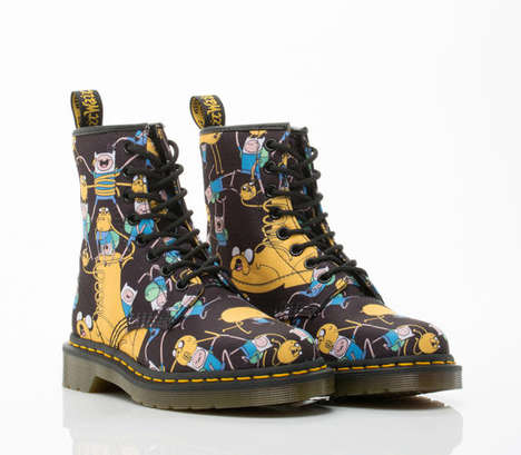 Cartoon Combat Boots - The Dr Martens Adventure Time Boots are a Surprising Collaboration