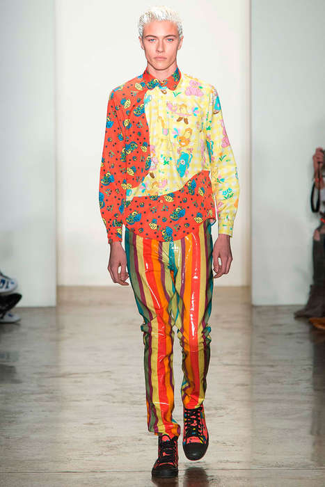 Childlike Over-Saturated Apparel - The Latest Jeremy Scott Collection for Men is Vibrantly Hued