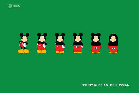 Pop Cultural Campaigns - These Matryoshka Dolls Ads for the Pushkin Institute are Highly Effective
