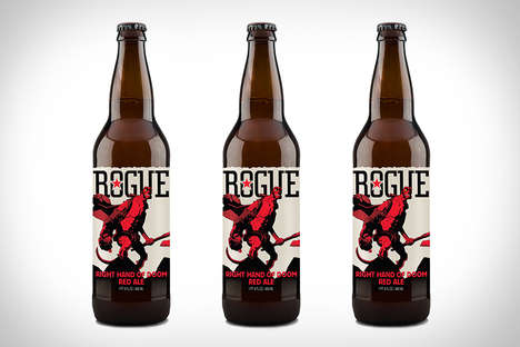 Demonic Anniversary Ales - This Rogue Ales Hellboy Brew is a Collaboration with Dark Horse Comics