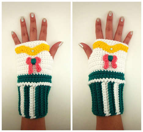 Anime Wrist Warmers - These Sailor Jupiter Wrist Warmers Help Fight Against the Cold
