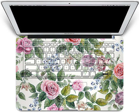 Floral Laptop Decals - The Floral Keyboard Sticker is a Reminder That Spring is Approaching