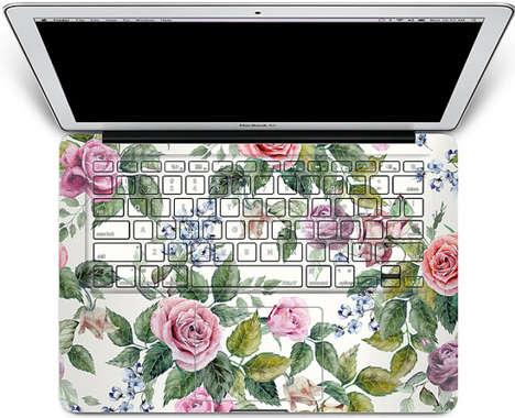 Floral Laptop Decals