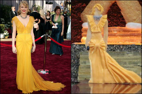 Award-Winning Edible Dresses - The International Culinary Center Has Created the Oscar Dress Cookies